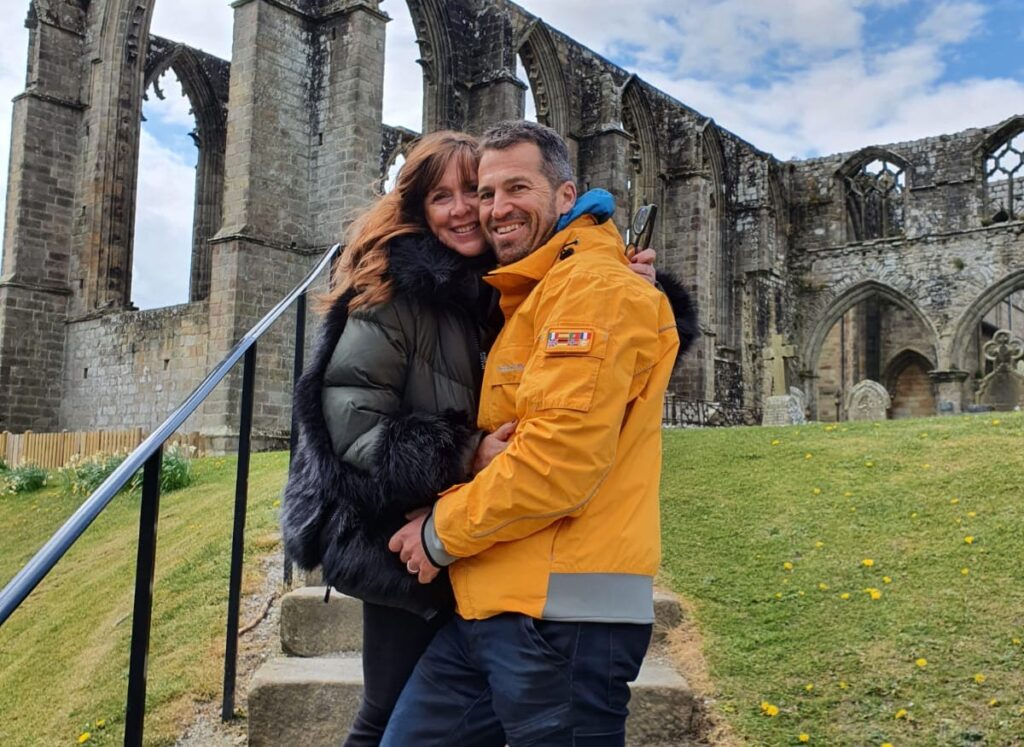 Andrea and Ashley, of Property by Number 35, Outside Bolton Abbey Cropped